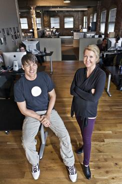 Hive FX partners Jim Clark, left, and Gretchen Miller say they're having trouble finding workers.