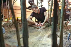 Laika CEO and head animator Travis Knight works on the character of Norman for ParaNorman.
