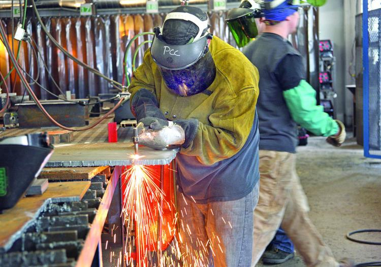 Portland Community College teamed with Vigor Industrial to open a welding classroom on Swan Island.
