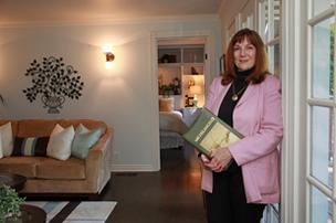 Business is brisk for home stager Maureen Bray.