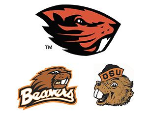 Oregon State Beaver's new identity shown on top.