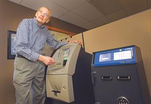 Sam Bosch holds a patent that lets merchants deposit and withdraw cash from ATMs and safes.