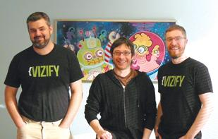 Jeff Cutler-Stamm, Todd Silverstein and Eli Tucker co-founded Portland startup Vizify.