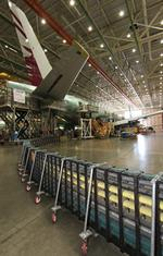 Production of Boeing's 777 continues under the radar
