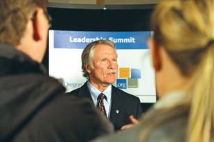 Gov. John Kitzhaber and Oregon's business community share many priorities, including education reform.