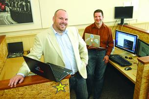 CPUsage co-founders Jeff Martens, left, and Matthew Wallington think they have a unique take on cloud computing.