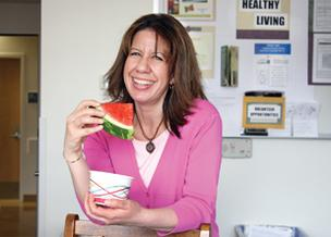 Legacy Meridian Park's Patti Solis found that parts of her workplace wellness program aided weight loss.