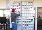 'Grimm' Producer Steve Oster oversees the production schedule with the help of a huge whiteboard.