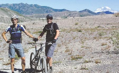 Several Leatherman employees gather on weekends to ride their bikes, including at Mt. St. Helens.
