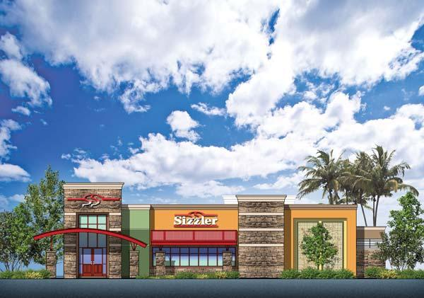 A Sizzler restaurant, depicted in this illustration, will be coming to the Florin Towne Centre either in the fourth quarter of this year or the beginning of 2012. The shopping center, like others in the region, has been beleaguered by vacancies because of the tough economy.