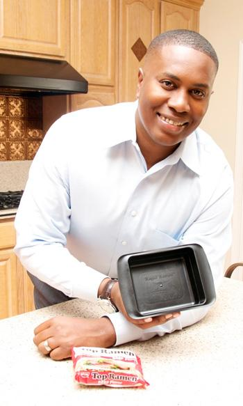 Christopher Johnson of Sacramento is the inventor of Rapid Ramen, a bowl that helps speed preparation of Top Ramen instant noodles.