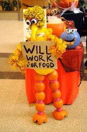 """Most Funny--A hilarious replica of Big Bird full of witty allusions to the Sesame Street character's role in the second presidential debate. My favorite touch: The """"I voted"""" sticker. The entry was created by 95814 Digital, a legal document processing firm at 400 Capitol Mall."""