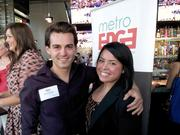 """Nick Dindio and friend at """"In the Mix,"""" a Metro Edge event held May 15 at the new Firestone Public House, 16th & L streets."""
