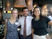 """Julie Neller, Ali Zamanian and Verna Sulpizio at """"In the Mix,"""" a Metro Edge event held May 15 at the new Firestone Public House, 16th & L streets."""