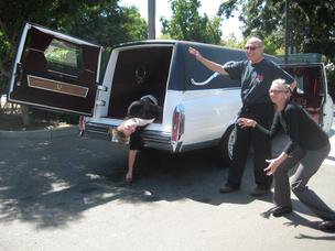 Hearse Sacramento lawyer David Mastagni Sr., summer intern Katie O'Farral and legal assistant Kelsey Christiansen