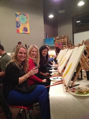 Painted, which has already had a soft opening at Folsom's Palladio at Braodstone, has customers painting while they sip local wine.