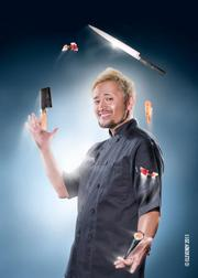 Roseville firm Elevendy shot this photo of Taro Arai, owner/founder of Mikuni Sushi, who also juggles several Mikuni locations.