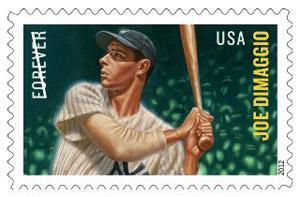 """A stamp honoring baseball legend Joe DiMaggio is one in a set of four Major League Baseball """"All-Stars"""" stamps. Advance sales of the DiMaggio stamp have exceeded 290,000. Sacramento resident Elizabeth Kanna, managing member and brand architect of Joe DiMaggio LLC, is set to speak at a stamp dedication ceremony on what DiMaggio means to baseball and America."""