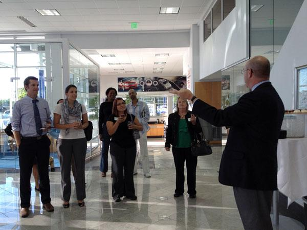 Contestants in this round of Social Madness gathered at a reception Thursday atMercedes-Benz of Sacramento.