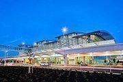 Sacramento International Airport's Terminal B uses a lot of glass to provide natural lighting.
