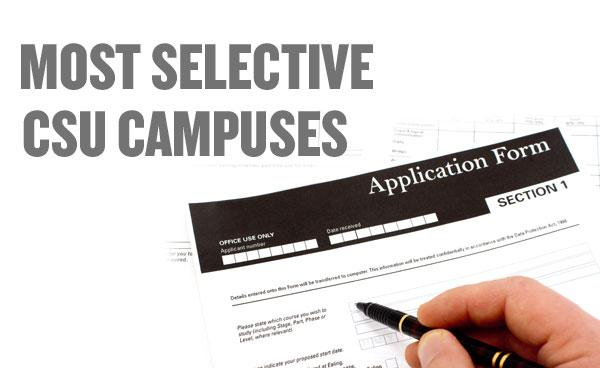 The California State University system admitted nearly 84 percent of applicants among first-time freshman last fall. But the system's 22 general campuses vary wildly in how selective they are.
