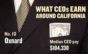 No. 10 Oxnard, with a median CEO salary of $184,330. The metropolitan area has an estimated 560 chief executives. A CEO in this area with 20-plus years of experience and a master's degree from the local CSU campus could expect a starting salary of $215,600.