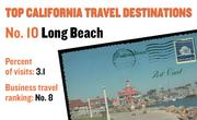No. 10. Long Beach, with 3.1 percent of visits in 2010. The destination ranks No. 8 for business travel.