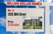 No. 11. 1335 38th St., with an asking price of $1.559 million. The 3,350-square-foot house was built in 1923 and has 4 bedrooms and 4 bathrooms. It sits on a property of 0.28 acres. The listing, first posted on Nov. 16, 2012, is here.