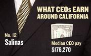 No. 12 Salinas, with a median CEO salary of $176,270. The metropolitan area has an estimated 180 chief executives. A CEO in this area with 20-plus years of experience and a master's degree from the local CSU campus could expect a starting salary of $209,000.