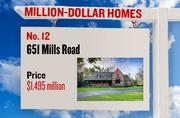 No. 12. 651 Mills Road, with an asking price of $1.495 million. The 2,614-square-foot house was built in 1937 and has 2 bedrooms and 2 bathrooms. It sits on a property of 1.20 acres. The listing, first posted on Jan. 17, 2013, is here.