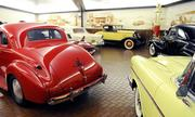 A couple of restored vehicles at the museum portion of Bertolucci's Body and Fender Shop. Visitors can view cars at the museum on request.