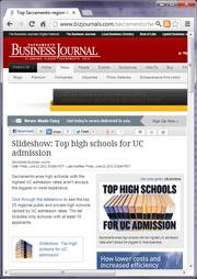 No. 13 -- Top Sacramento-region high schools for UC admission (June)