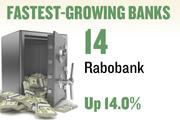 No. 14. Rabobank. Deposits in the Sacramento metro area grew 14.0 percent over the year ending June 30, 2012 to $530,725,000. The bank has 2 offices in the region.