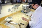 Cindy McCray prepares shortbread cookies at Biba Restaurant in Sacramento.