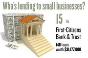 No. 15 (tie). First-Citizens Bank & Trust, with 148 loans worth $31,177,000 to businesses with revenue under $1 million.