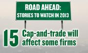 No. 15. Manufacturing: California's cap-and-trade program will begin to have an effect on larger firms.