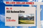 No. 15. 1931 Rockwood Drive, with an asking price of $1.395 million. The 2,829-square-foot house was built in 1953 and has 5 bedrooms and 3 bathrooms. It sits on a property of 1.40 acres. The listing, first posted on Jan. 26, 2013, is here.