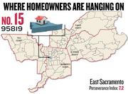 No. 15. 95819 in East Sacramento, with a Perseverance Index of 7.2. The ZIP code had a delinquency rate of 4.7 percent and a negative equity rate of 34.1 percent in the first quarter, according to Zillow.