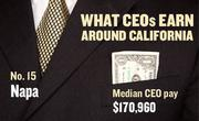 No. 15 Napa, with a median CEO salary of $170,960. The metropolitan area has an estimated 120 chief executives. A CEO in this area with 20-plus years of experience and a master's degree from the local CSU campus could expect a starting salary of $206,700.
