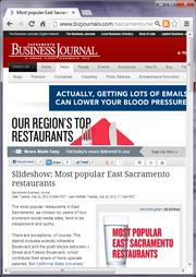 No. 18 -- Most popular East Sacramento restaurants, ranked by Yelp and Urbanspoon reviews (May)
