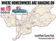 No. 19. 95818 in Land Park-Curtis Park, with a Perseverance Index of 6.9. The ZIP code had a delinquency rate of 5.2 percent and a negative equity rate of 36.3 percent in the first quarter, according to Zillow.