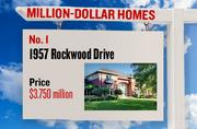 No. 1. 1957 Rockwood Drive, with an asking price of $3.750 million. The 11,727-square-foot house was built in 1996 and has 5 bedrooms and 7 bathrooms. It sits on a property of 1.70 acres. The listing, first posted on July 10, 2012, is here.