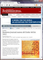 No. 1 -- Business Journal names 40 Under 40 for 2012 (December)