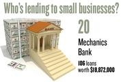 No. 20. Mechanics Bank, with 106 loans worth $18,872,000 to businesses with revenue under $1 million.
