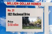 No. 21. 1821 Rockwood Drive, with an asking price of $1.150 million. The 3,632-square-foot house was built in 2007 and has 3 bedrooms and 3 bathrooms. It sits on a property of 0.18 acres. The listing, first posted on Jan. 7, 2013, is here.