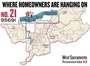 No. 21. 95691 in West Sacramento, with a Perseverance Index of 6.9. The ZIP code had a delinquency rate of 9.0 percent and a negative equity rate of 62.4 percent in the first quarter, according to Zillow.