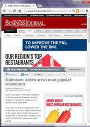No. 22 -- Arden area's most popular restaurants ranking includes lots of sushi (April)