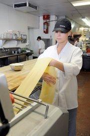 Assistant pastry chef and baker Penny Sheridan-Rimmele makes fettucine at Biba Restaurant in Sacramento.
