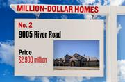 No. 2. 9005 River Road, with an asking price of $2.900 million. The 5,407-square-foot house was built in 2007 and has 4 bedrooms and 4 bathrooms. It sits on a property of 60.00 acres. The listing, first posted on Sept. 10, 2012, is here.