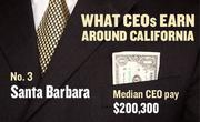 No. 3 Santa Barbara, with a median CEO salary of $200,300. The metropolitan area has an estimated 360 chief executives. A CEO in this area with 20-plus years of experience and a master's degree from the local CSU campus could expect a starting salary of $229,900.